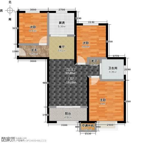 嘉利华府庄园3室0厅1卫1厨93.00㎡户型图