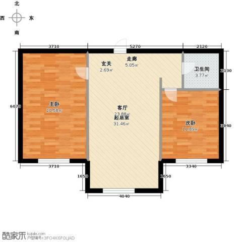 金华学府2室0厅1卫0厨74.00㎡户型图