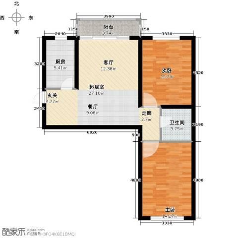 金华学府2室0厅1卫1厨75.00㎡户型图