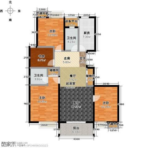 蓝庭国际4室0厅2卫1厨131.00㎡户型图