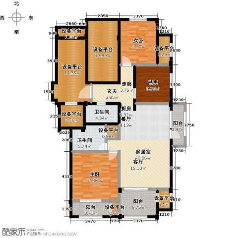 绿城蓝湾小镇3室0厅2卫0厨140.57㎡户型图