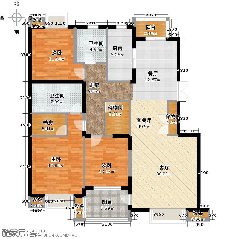 瀛海金洲140.15㎡C5户型3室2厅2卫