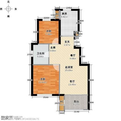 颐泊湾2室0厅1卫1厨71.93㎡户型图