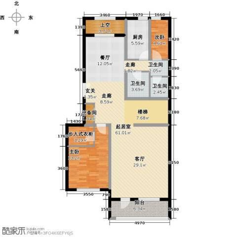 御苑2室0厅2卫1厨150.00㎡户型图