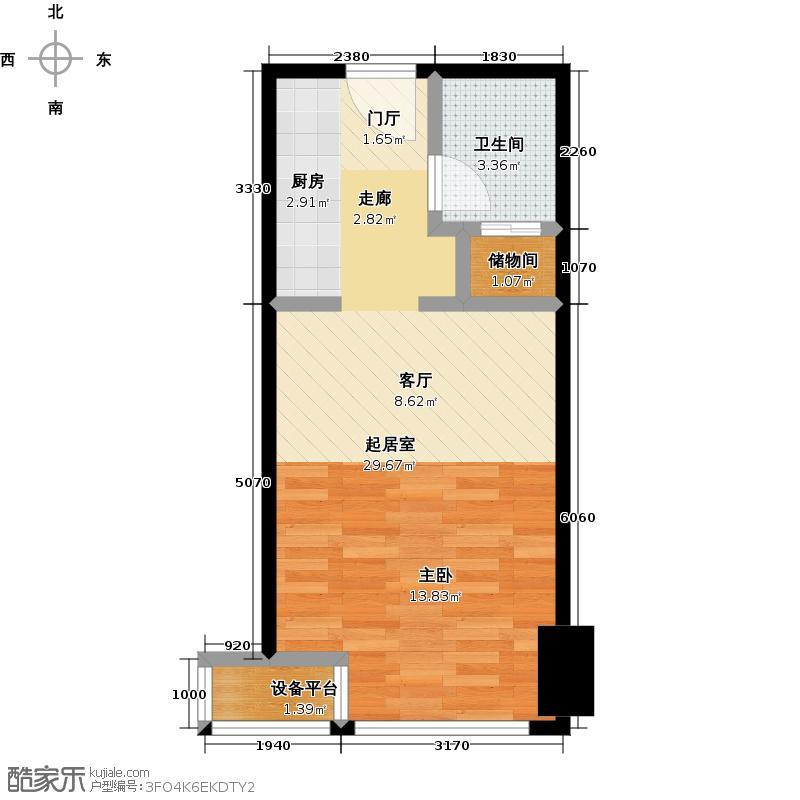 嘉和广场40.55㎡1室1卫户型