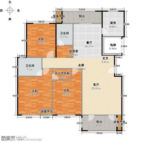 金鼎湾国际3室0厅2卫1厨167.01㎡户型图