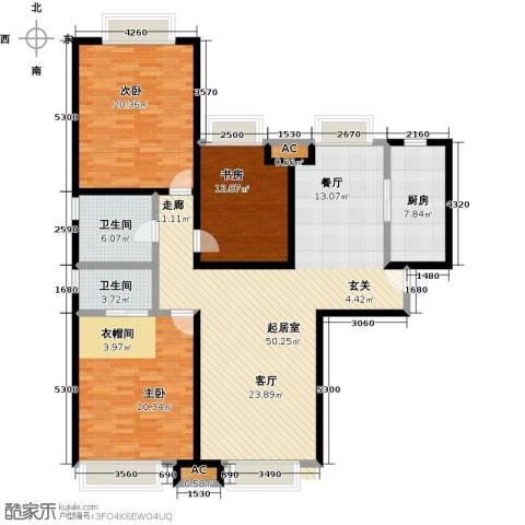 颐和星海3室0厅2卫1厨144.00㎡户型图