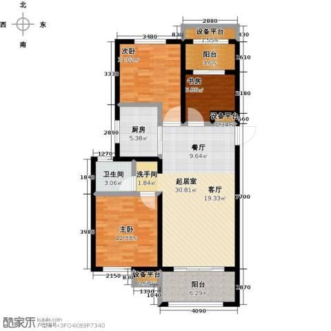 华润置地橡树湾3室0厅1卫1厨119.00㎡户型图