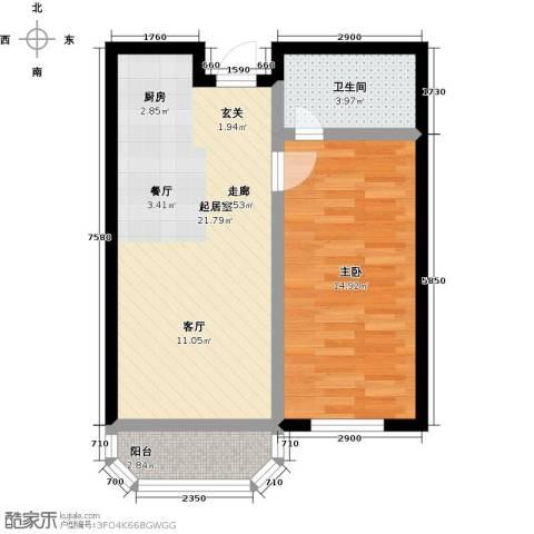 山屏美境1室0厅1卫0厨57.00㎡户型图