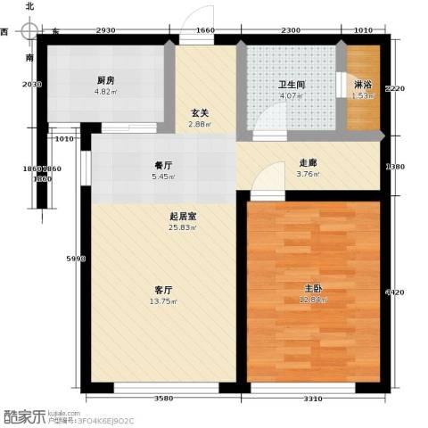 颐和星海1室0厅1卫1厨75.00㎡户型图