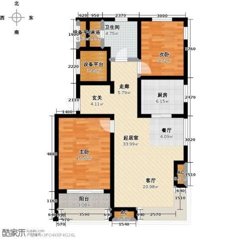 颐和星海2室0厅1卫1厨110.00㎡户型图