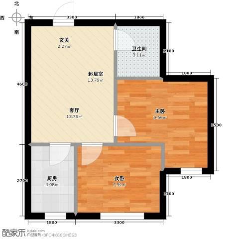 缇香漫城2室0厅1卫1厨60.00㎡户型图