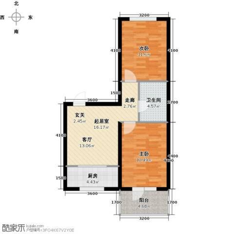 缇香漫城2室0厅1卫1厨81.00㎡户型图