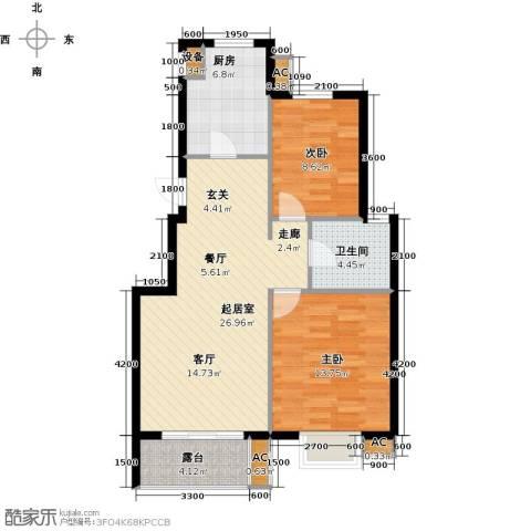 缇香漫城2室0厅1卫1厨88.00㎡户型图