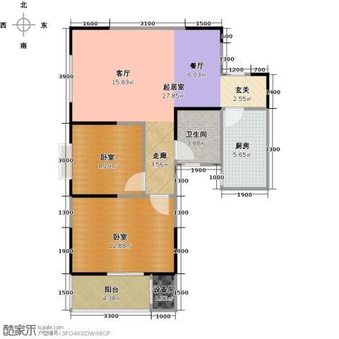 金泰怡景花园1卫1厨85.00㎡户型图