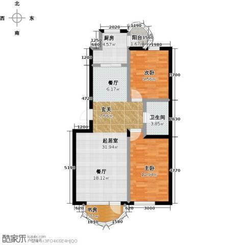 香洲心城三期3室0厅1卫1厨95.00㎡户型图