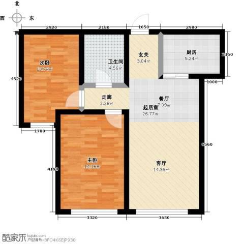 颐和星海2室0厅1卫1厨95.00㎡户型图