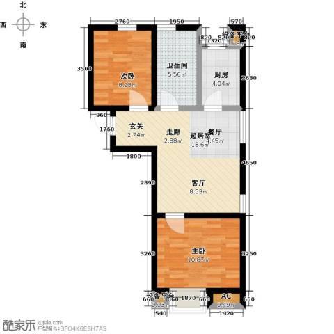 颐和星海2室0厅1卫1厨83.00㎡户型图
