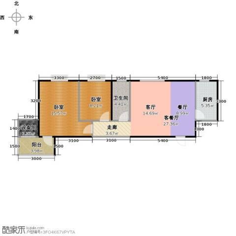 金泰怡景花园1厅1卫1厨88.00㎡户型图