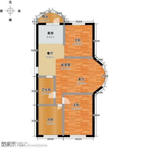 香洲心城三期2室0厅1卫0厨117.00㎡户型图