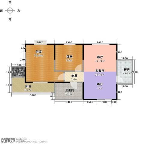 金泰怡景花园1厅1卫1厨74.98㎡户型图