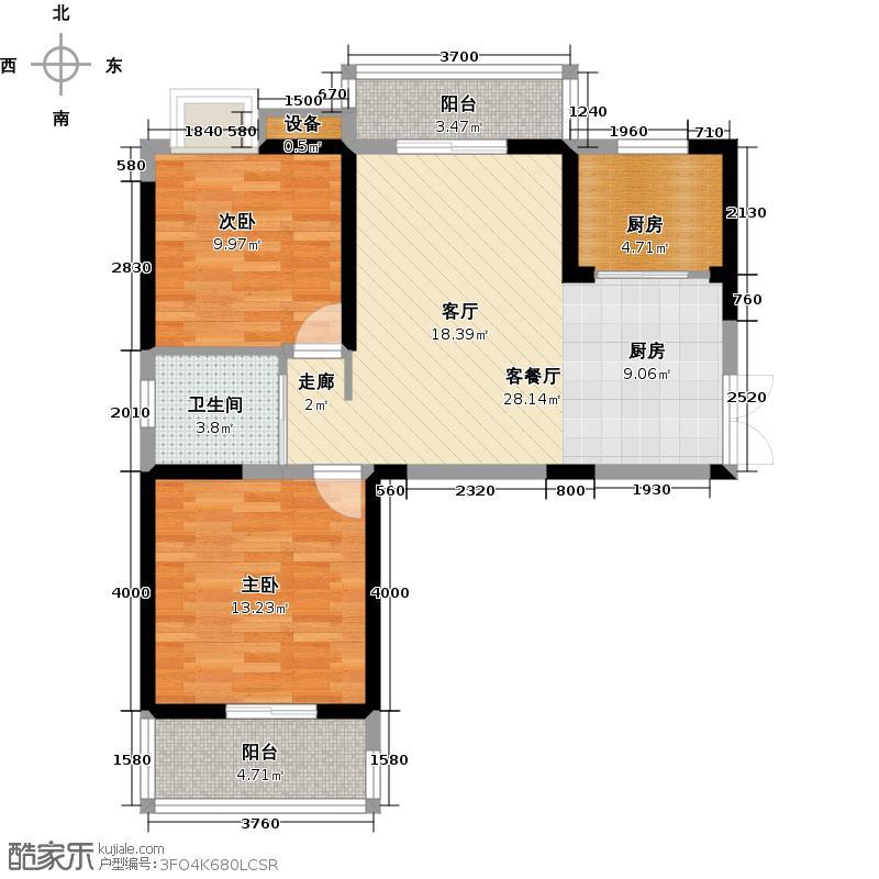福星惠誉水岸国际福星惠誉水岸国际户型图D1户型2室2厅1卫