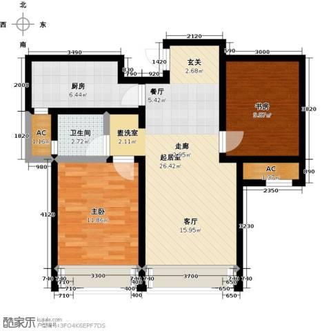 颐和星海2室0厅1卫1厨91.00㎡户型图