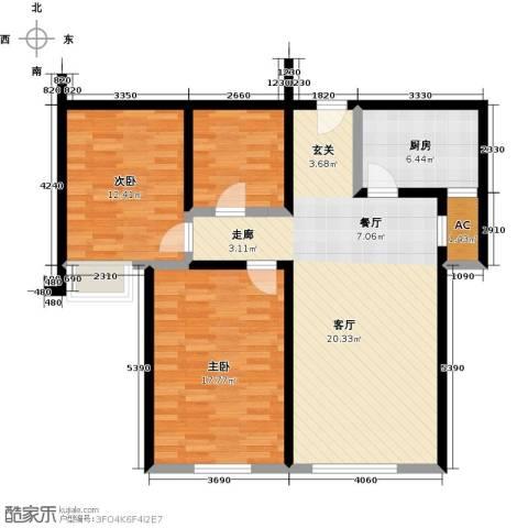 颐和星海2室0厅1卫1厨90.00㎡户型图