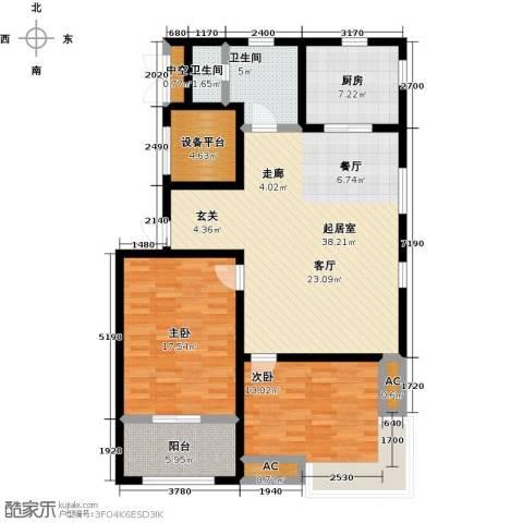 颐和星海2室0厅2卫1厨110.00㎡户型图