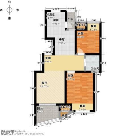 新城熙园2室0厅1卫0厨80.00㎡户型图