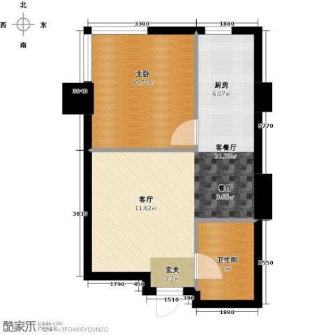 金州福佳新天地广场1室1厅1卫0厨53.00㎡户型图