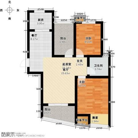 新城熙园2室0厅1卫1厨80.00㎡户型图