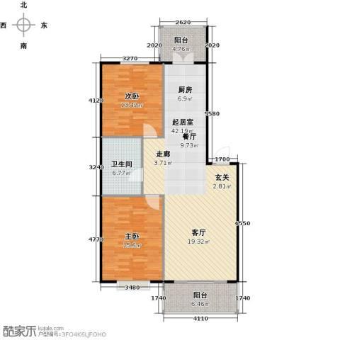 华远水木清华2室0厅1卫0厨119.00㎡户型图