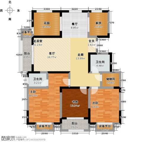 聚盛花园明日星城3室0厅2卫1厨138.00㎡户型图