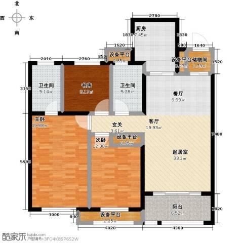 华润置地橡树湾3室0厅2卫1厨152.00㎡户型图