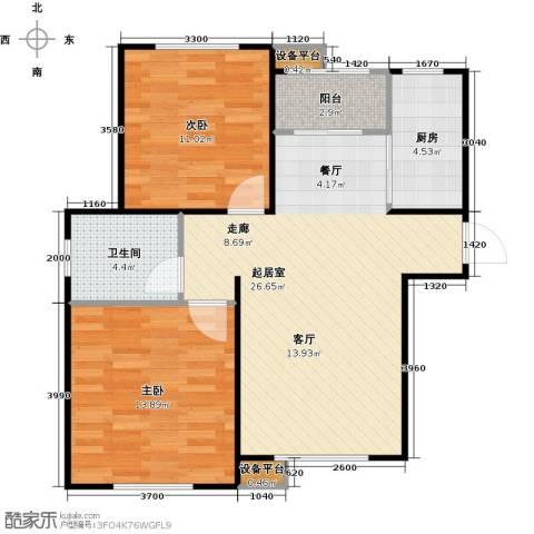 新里海德公馆2室0厅1卫1厨90.00㎡户型图
