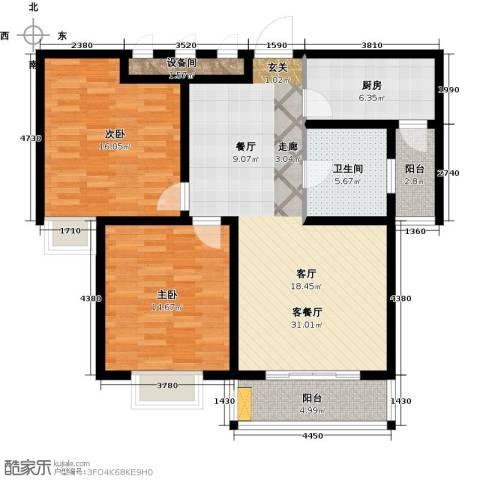 太湖湾度假村2室1厅1卫1厨120.00㎡户型图