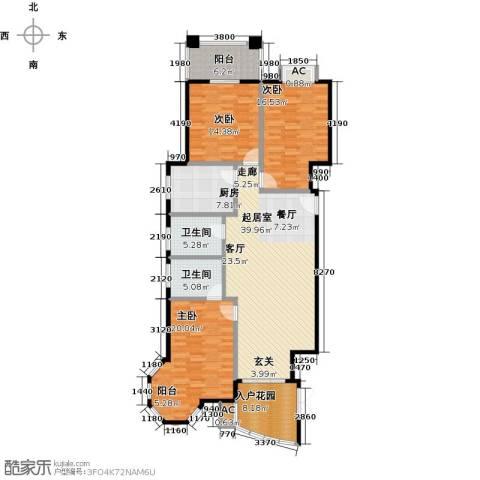 东方名城3室0厅2卫1厨175.00㎡户型图