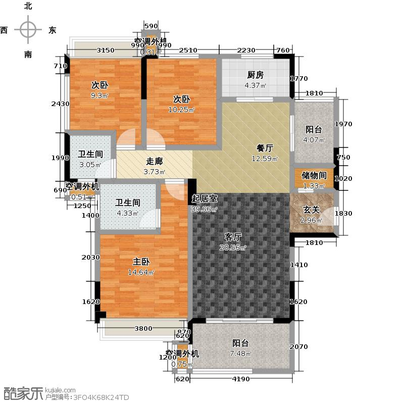 明发国际新城122.00㎡明发国际新城122.00㎡3室2厅2卫户型3室2厅2卫