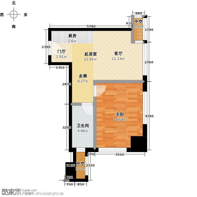 嘉和广场50.28㎡1室1厅1卫户型
