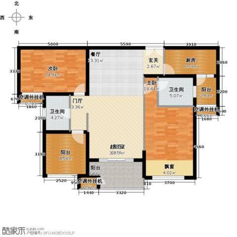 星河国际2室0厅2卫1厨154.00㎡户型图