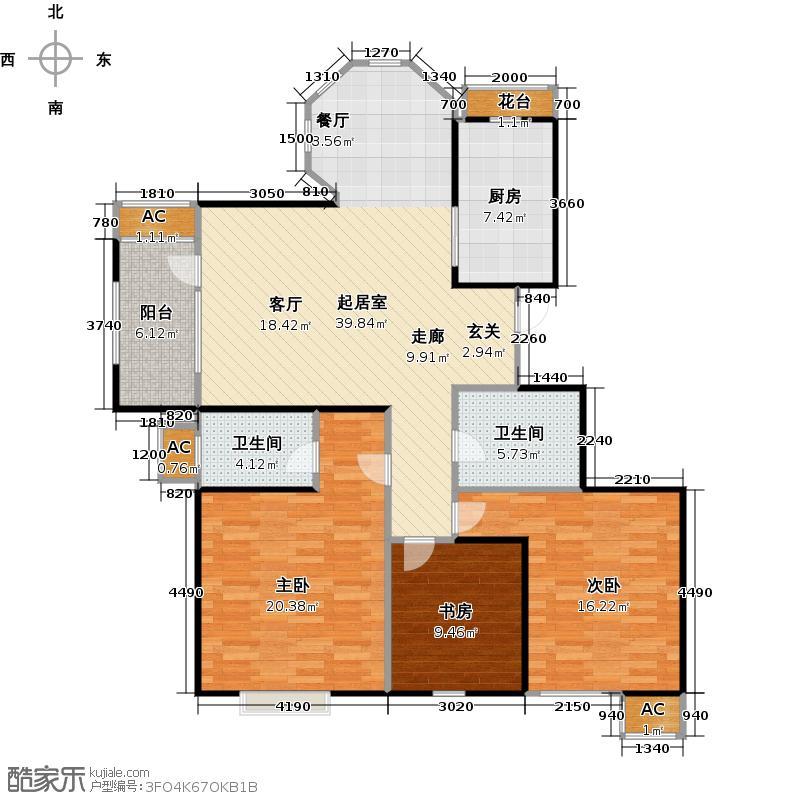 阳光香蜜湖122.16㎡一期10号楼、12号楼、13号楼G0-3户型