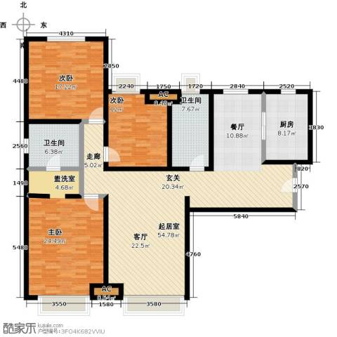 颐和星海3室0厅2卫1厨150.00㎡户型图