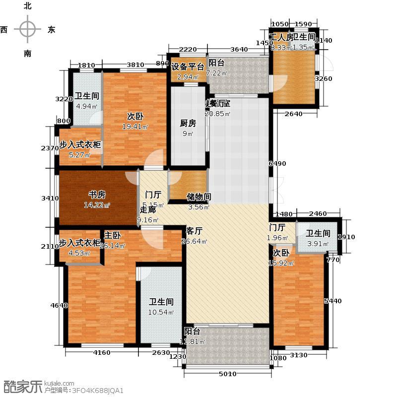龙德花园236.00㎡二期G1户型四室两厅三卫236平米户型4室2厅3卫