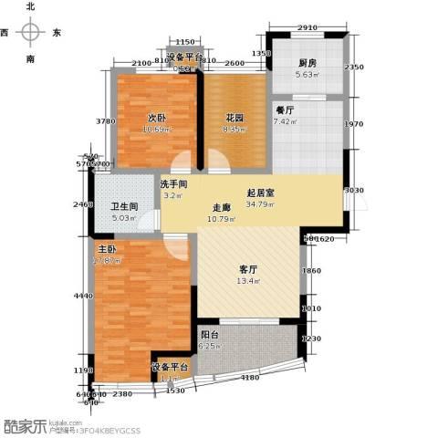 新城熙园2室0厅1卫1厨103.00㎡户型图