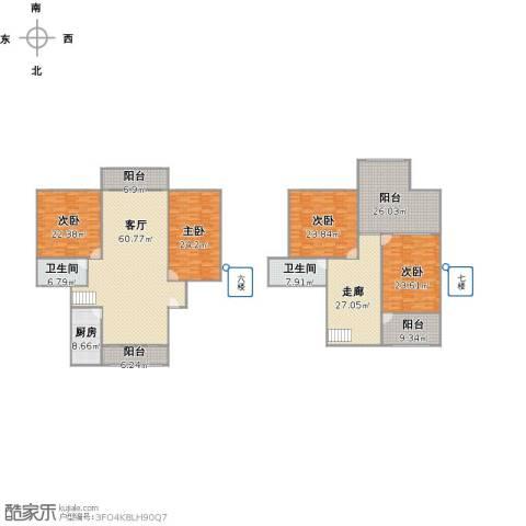 恒大华城天地苑4室1厅2卫1厨335.00㎡户型图