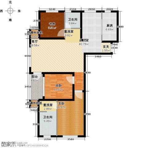 龙德花园3室0厅2卫1厨127.00㎡户型图