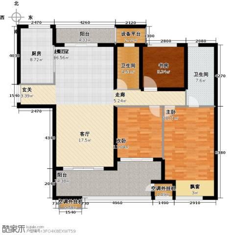 星河国际3室0厅2卫1厨179.00㎡户型图