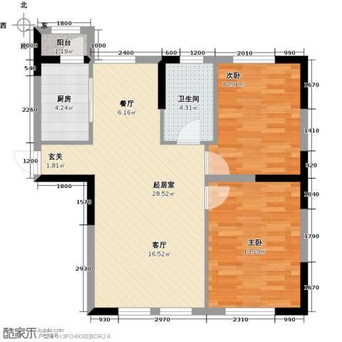 温莎小镇2室0厅1卫1厨88.00㎡户型图