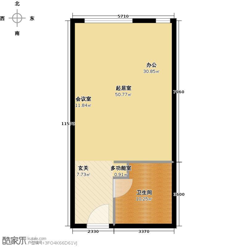 武进吾悦广场65.00㎡苹果公寓F2户型1室1厅1卫